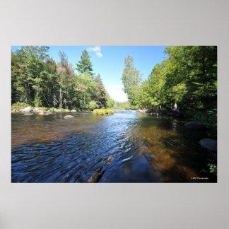 AdirondacksのRaquetteの川。 プリント08 252 ポスター
