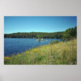 AdirondacksのRaquette湖。 プリント08 232 ポスター