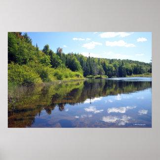 AdirondacksのRaquette湖。 プリント08 304 ポスター