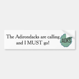 Adirondacksは呼んでいます バンパーステッカー