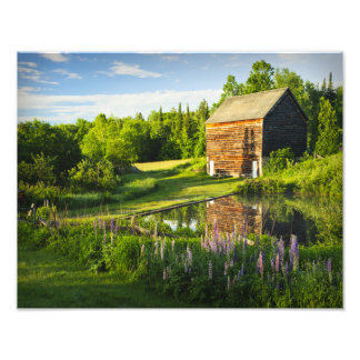 Adirondacks、ニューヨークのジョンブラウンの農場 フォトプリント