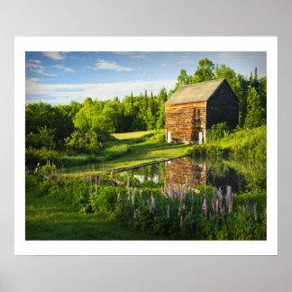 Adirondacks、ニューヨークのジョンブラウンの農場 ポスター