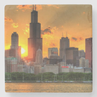 Adlerからのシカゴのスカイラインの眺め ストーンコースター