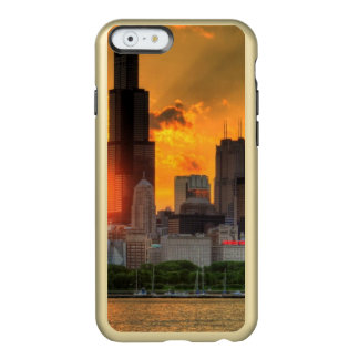 Adlerからのシカゴのスカイラインの眺め Incipio Feather Shine iPhone 6ケース