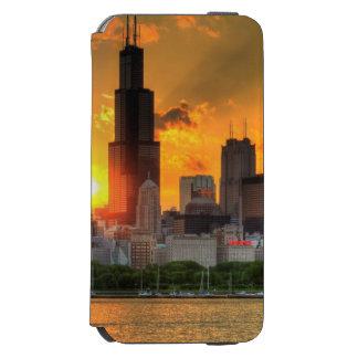 Adlerからのシカゴのスカイラインの眺め iPhone 6/6sウォレットケース