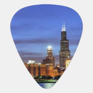 Adlerのプラネタリウムからのシカゴのスカイライン ギターピック