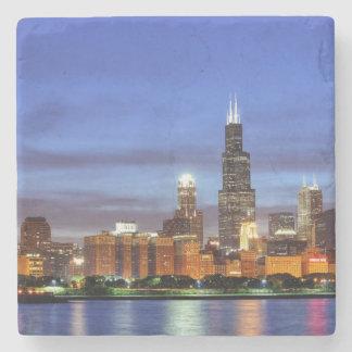 Adlerのプラネタリウムからのシカゴのスカイライン ストーンコースター