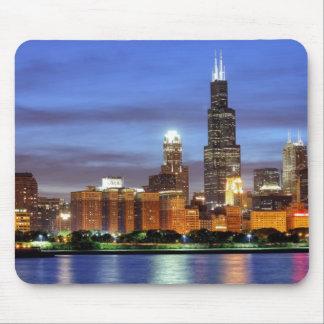 Adlerのプラネタリウムからのシカゴのスカイライン マウスパッド