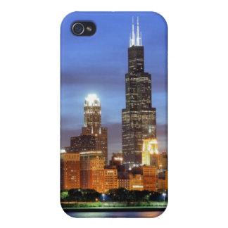 Adlerのプラネタリウムからのシカゴのスカイライン iPhone 4/4S ケース
