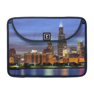 Adlerのプラネタリウムからのシカゴのスカイライン MacBook Proスリーブ