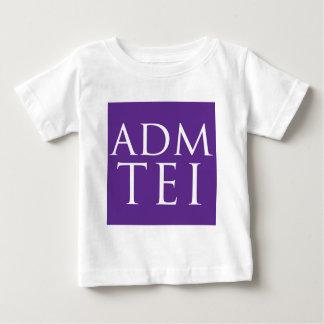 ADMTEIによって短縮されるロゴ-紫色の正方形 ベビーTシャツ