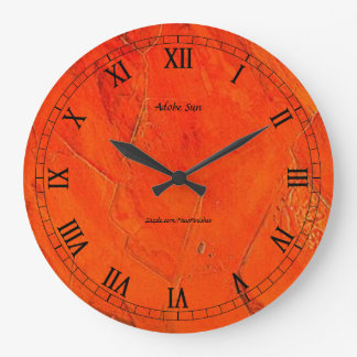 Adobe日曜日の模造のな終わり ラージ壁時計