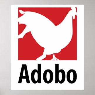 Adoboの鶏のポーク ポスター