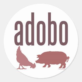 Adobo: 鶏及びポーク 丸型シール