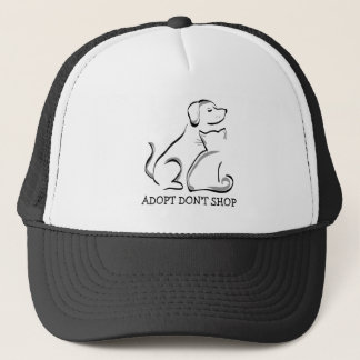 adopt帽子犬猫のトラック運転手の買物をしません キャップ