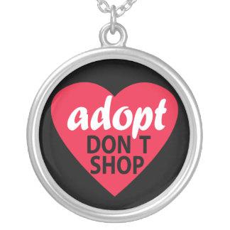 adopt買物をしません シルバープレートネックレス