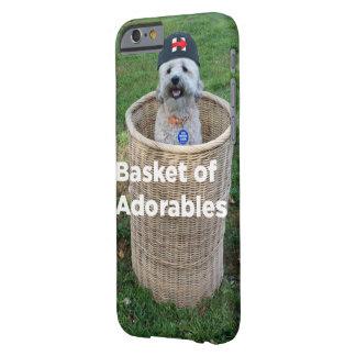 Adorablesのバスケット: ヒラリーのための愛らしい犬 barely there iPhone 6 ケース