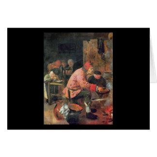 Adriaen Brouwerのパンケーキ カード