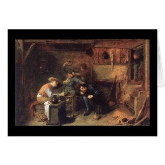 Adriaen Brouwerの小作人の戦い カード