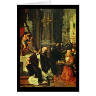 Adriaen Isenbrandt St Gregoryの固まり カード