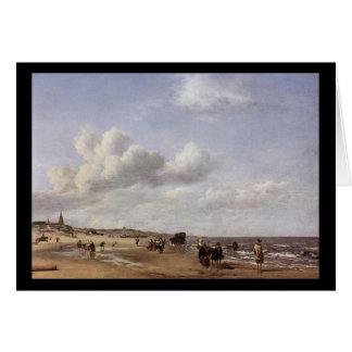Adriaen van de Veldeスヘーフェニンゲンのビーチ カード