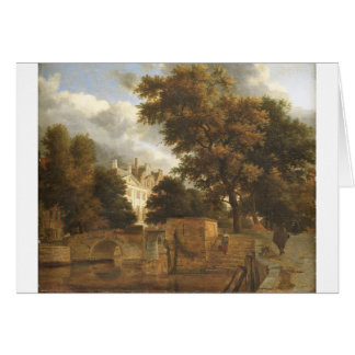 Adriaen van de Velde著石造り橋 カード