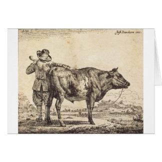 Adriaen van de Velde著Bull カード