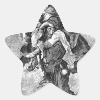 Adriaen van de Venne著窮乏のアレゴリー 星シール
