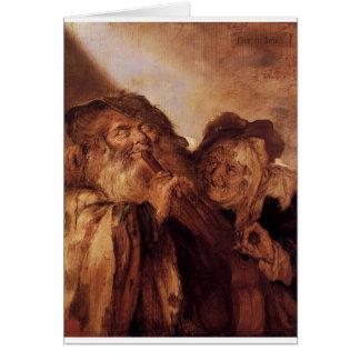 Adriaen van de Venne著美しくそして醜いです カード
