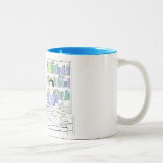 AdrienおよびJakeのぬり絵帳のマグ(引用文なしで) ツートーンマグカップ