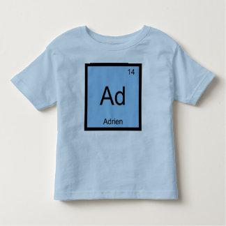Adrien一流化学要素の周期表 トドラーTシャツ