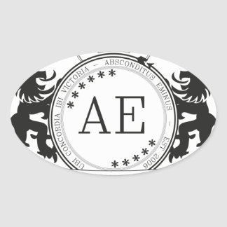 AEの頂上 楕円形シール