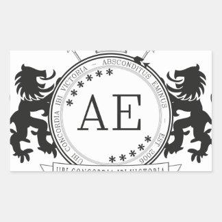 AEの頂上 長方形シール