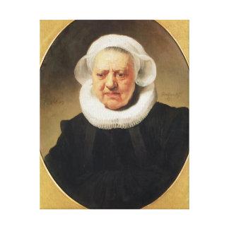 Aechje Claesdar 1634年のポートレート キャンバスプリント