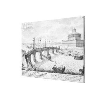 AeliusおよびHadrianのマウソレウム(Castel Sの橋 キャンバスプリント