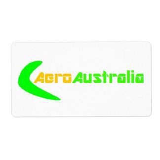 AeroAustralia箱のステッカー(大きい) ラベル