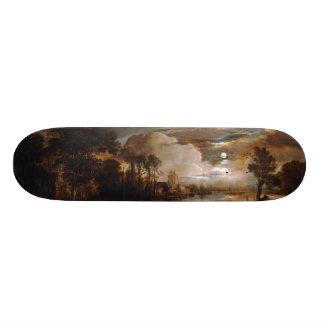 AertヴァンDer Neer (1647年)著月明りの景色 20.6cm スケートボードデッキ