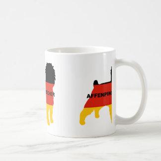 affenspinscherの旗のサイロの名前 コーヒーマグカップ