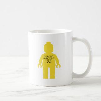AFOLイギリスのMinifigは私のMinifigをカスタマイズ コーヒーマグカップ