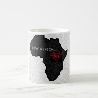 Africa_outline_bwのコピー コーヒーマグカップ