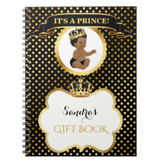 African American Prince Royal Black Gold Gift ノートブック