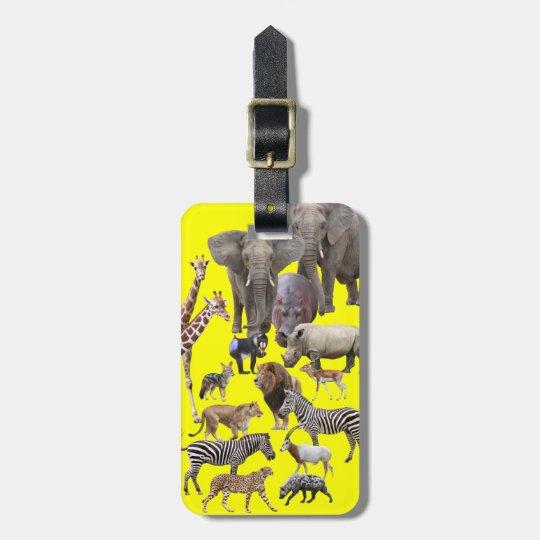 African Animals ラゲッジタグ