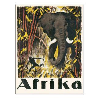Afrikaのヴィンテージ旅行ポスター ポストカード