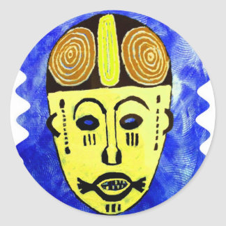 AfriKania: Afikpoのマスク(ナイジェリア) ラウンドシール