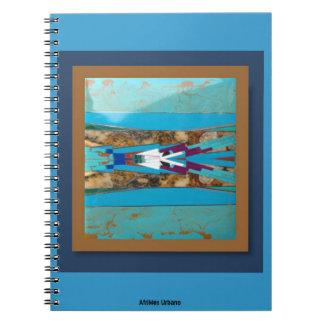 AfriMex Urbanoのターコイズの盾のノート ノートブック