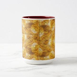 AfriMex Urbano Asanteの金ゴールドの重量のマグ ツートーンマグカップ