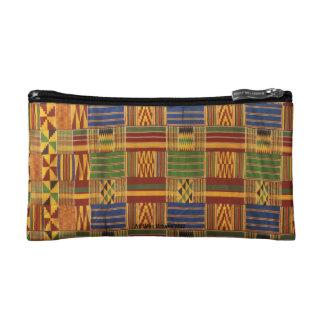 AfriMex Urbano Kenteの布の昔ながらのなバッグ コスメティックバッグ