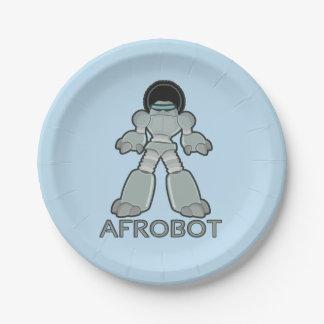 Afrobot -アフリカのロボット ペーパープレート