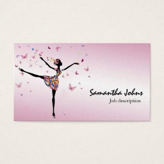 Afrocentricのダンサーのバレリーナのプロフェッショナルのスタイリスト 名刺
