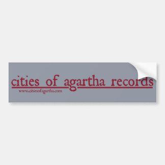 Agarthaの記録の都市 バンパーステッカー